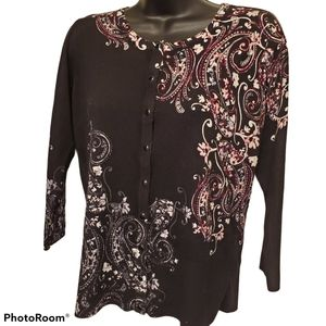 WHBH Floral Button Cardigan